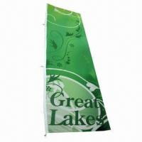 Wholesale Customized Flag with Screen or Digital Printing, Made of 100% Polyester, Measures 120 x 400cm from china suppliers
