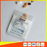 Wholesale Clear Small Ziplock Bags For Pills , Disposable Air Tight Zip Lock Bags from china suppliers