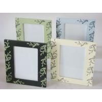 "Wholesale 5x7"" green / blue / Cream Wood Square Personalized Photo Frames For Home Decoration from china suppliers"