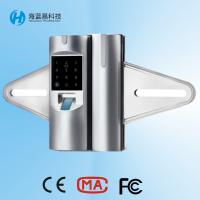 Buy cheap Price best seller zinc alloy silvery biometric glass door lock for office from wholesalers