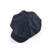 Wholesale Twill Printing Cotton Newsboy Cap For Boys , Striped Black Newsboy Hat from china suppliers