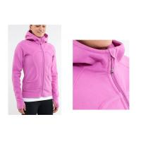 Wholesale Ladies Pink Embroidery Customized Sport Hoodied Sweat Shirts Printing Deluxe Full Zip from china suppliers