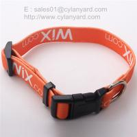 Wholesale Imprint Polyester Adjustable Dog Collars, China pet supply factory from china suppliers