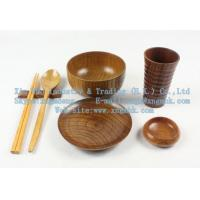 Wholesale Wooden utensils, wooden chopsticks, wooden cup, wooden bowls, wooden dishes, cutlery set from china suppliers
