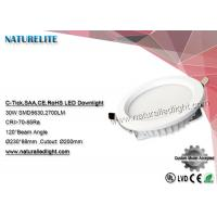 Wholesale 30w Led Downlight SMD Epistar Led Down Lights  CRI 70 - 85 Ra 2700 lm  200mm Cutout from china suppliers