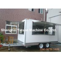 Wholesale Enclosed Mobile Hot Dog Cart Trailer Customized Food Cart In White from china suppliers