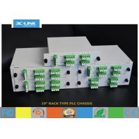 "Wholesale 19"" Rack Mount Passive Fiber Optic PLC Splitter chassis for different ratio PLC splitters from china suppliers"