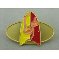 Wholesale Classic Embossed Soft Enamel Recognition Pins With Gold Plating from china suppliers