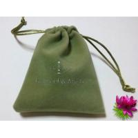 Wholesale Green Eco - friendly Mini Velvet Drawstring Bag Handmade Velvet Bag from china suppliers