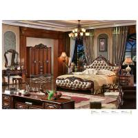 Wholesale A6028; leather bed, bedroom set,Royal style bedroom furniture,hotel furnitue,bed side table,dresser,Night stand,wardrobe from china suppliers