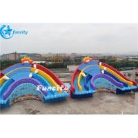 Wholesale 11x6x6m Inflatable Rainbow Slide for Water Park Equipment Use from china suppliers