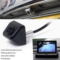 Buy cheap 4.3 inch car color LCD folded monitor two way vedio input easy install and good factory price rearview safety from wholesalers