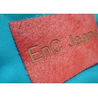 Wholesale Personalized Metal Logo Genuine Embossed Leather Labels And Tags For Clothes from china suppliers