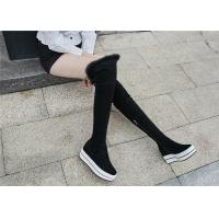 Wholesale Womens Black Knee High Platform Boots , Tight Over The Knee Boots For Tall Ladies from china suppliers