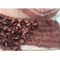Wholesale 100% Polyester Soft Lace Fabric 3d Flower / Tulle Lace Fabric For Wedding Dress from china suppliers