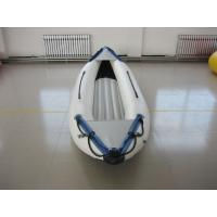 Wholesale White PVC Fabric One Person Raft Inflatable Fishing Kayak With Aluminum Seat from china suppliers