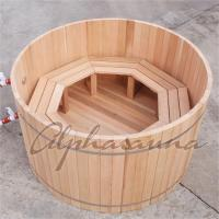 Wholesale 100% Red cedar Wooden Hot Tubs / traditional sauna kit , No electricity from china suppliers