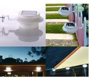 Buy cheap 3led solar power Yard Wall Gutter outdoor Pathway Garden Lamp Solar light waterproof garden light from wholesalers