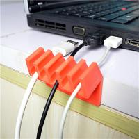 Wholesale Orange Households Products Cable Drop Clip Plastic Cord Divider For USB Line from china suppliers