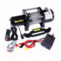 Quality Electric Winch with 1.3kW/1.7HP (12V) Power and 218:1 Gear Reduction Ratio for sale