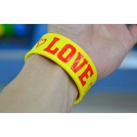 Wholesale wholesale silicone slap bracelet  , bright color  silicone bracelets wristband from china suppliers