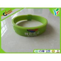 Wholesale Healthy Green Silicone Balance Bracelet , Light Rubber Energy Wristband from china suppliers