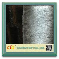 Wholesale Brown / Grey Sofa Suede Fastcolours Artificial Fur Fabric with 70% Acrylic , 30% Polyester from china suppliers