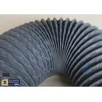 Wholesale PVC Coated Fiberglass Fabric 150MM HVAC Flexible Air Ducts 10M Grey 260℃ from china suppliers