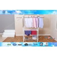 Wholesale Sturdy Double Pole Clothes Rack Wholesale / Smart Cloth Drying Rack Stand from china suppliers