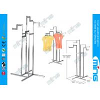 Wholesale Adjustable Chrome Metal Clothes Rack Clothing Garment Four Way from china suppliers