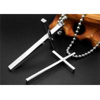 China Religious Stainless Steel Celtic Cross Necklace , Black Chain Necklace For Men on sale