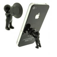 Quality 3D man stand with silicone sucker for mobile phone for sale