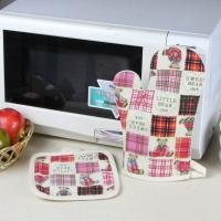 Wholesale Cute Bear Printed 100% Cotton Child Kitchen Oven Mitts / Heat Resistant for Kitchen Usage from china suppliers