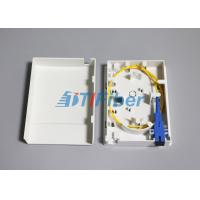 Quality Compact Structure Faceplate FTTH Mini Fiber Optic Terminal Box / Ofc Termination Box for sale