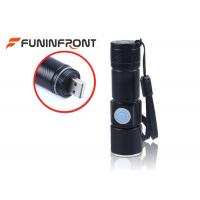 Wholesale CREE XPE Q5 USB Rechargeable LED Flashlight MINI Adjustable Focus With 3 Modes from china suppliers