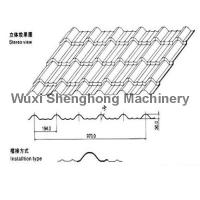 Steel Glazed Tile Roof Panel Roll Forming Machine 0.3-0.7mm Thickness