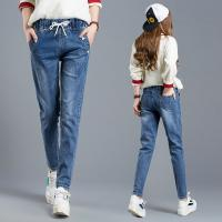Wholesale Supernova Multiple Sizes Womens Tapered Jeans With Elastic Waist Soldier Printed from china suppliers