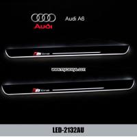 Wholesale Audi A6 car led lights moving door sill plate pedal steps for sale from china suppliers