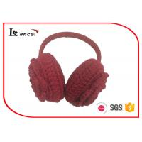 Wholesale Outside Red Knitted Winter Ear Warmers Pearl Plastic Band For Girl from china suppliers