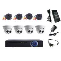 Wholesale Multi Mode Input 4 Camera CCTV System Kit , DVR Security Camera System For Garden from china suppliers
