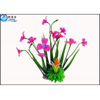 Wholesale Rose Red Plastic Aquatic Plants With Resin Base Fish Tank Background Artificial Plants from china suppliers