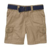 Wholesale Healthtex Baby Toddler Boy Belted Cargo Shorts from china suppliers