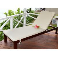 Wholesale Outdoor Wooden Lounge Chair Leisure Sun Lounger Environmentally Friendly Lacquer from china suppliers