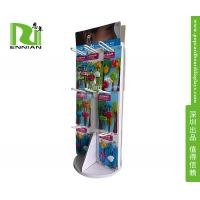 Wholesale Custom Pop Corrugated Jewelry Floor Spinner Display Rack With Peg Hooks from china suppliers