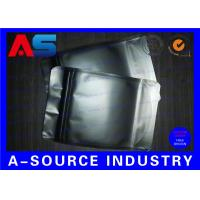 Wholesale Matt Black Heat Seal Aluminum Foil Bags With Zip Lock / Mylar Sleeves from china suppliers