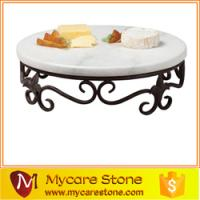 Wholesale western popular white marble serving tray , serving tray dessert plate from china suppliers