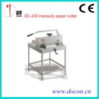China DC-430 manually paper cutter on sale
