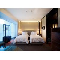 Comfortable Double Bed Style Hotel Bedroom Furniture Single Bed Size For Sale