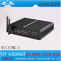 Quality Fanless Media Player PC Core i7 Mini PC Windows 8.1 2 Nics 2 HDMI SD Card Industrial Deskt for sale