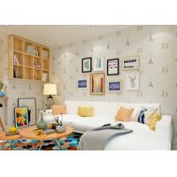 Wholesale Beige Kids Bedroom Wallpaper / Baby Boy Bedroom Wallpaper With Good Light Fastness from china suppliers